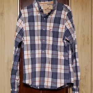 Hollister gray/blue  shirt